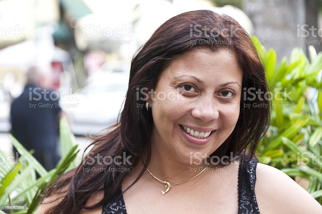 Sexy hispanic young woman stock photo