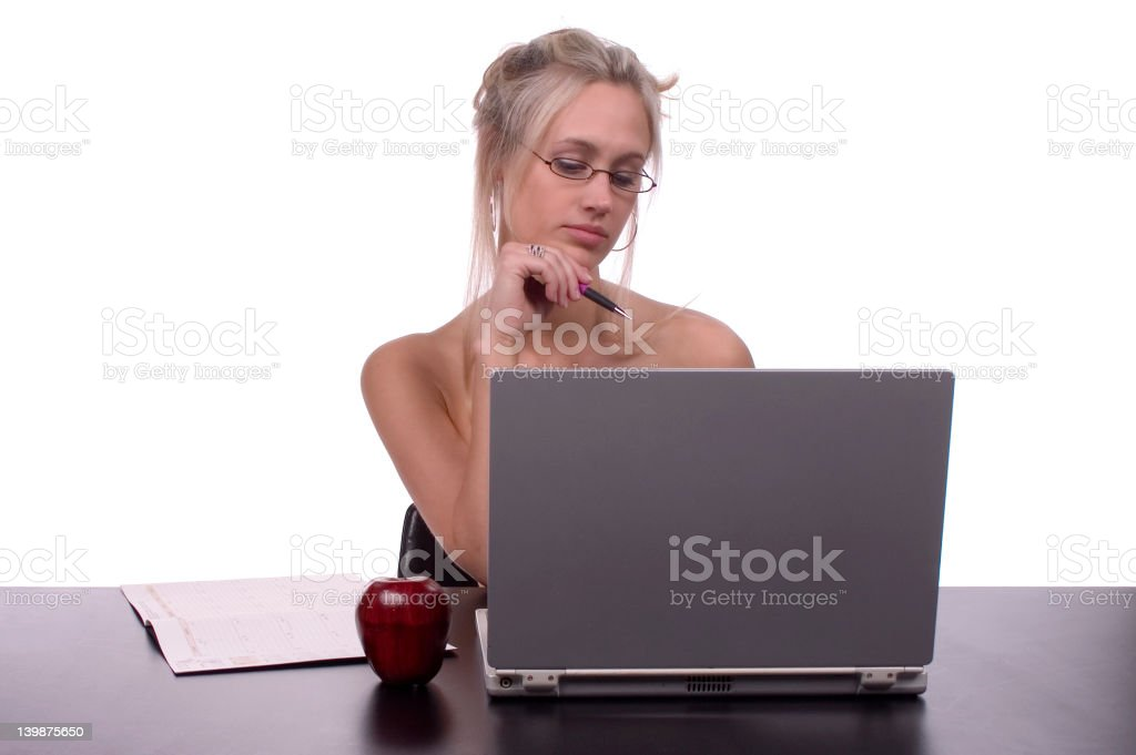 sexy homework royalty-free stock photo