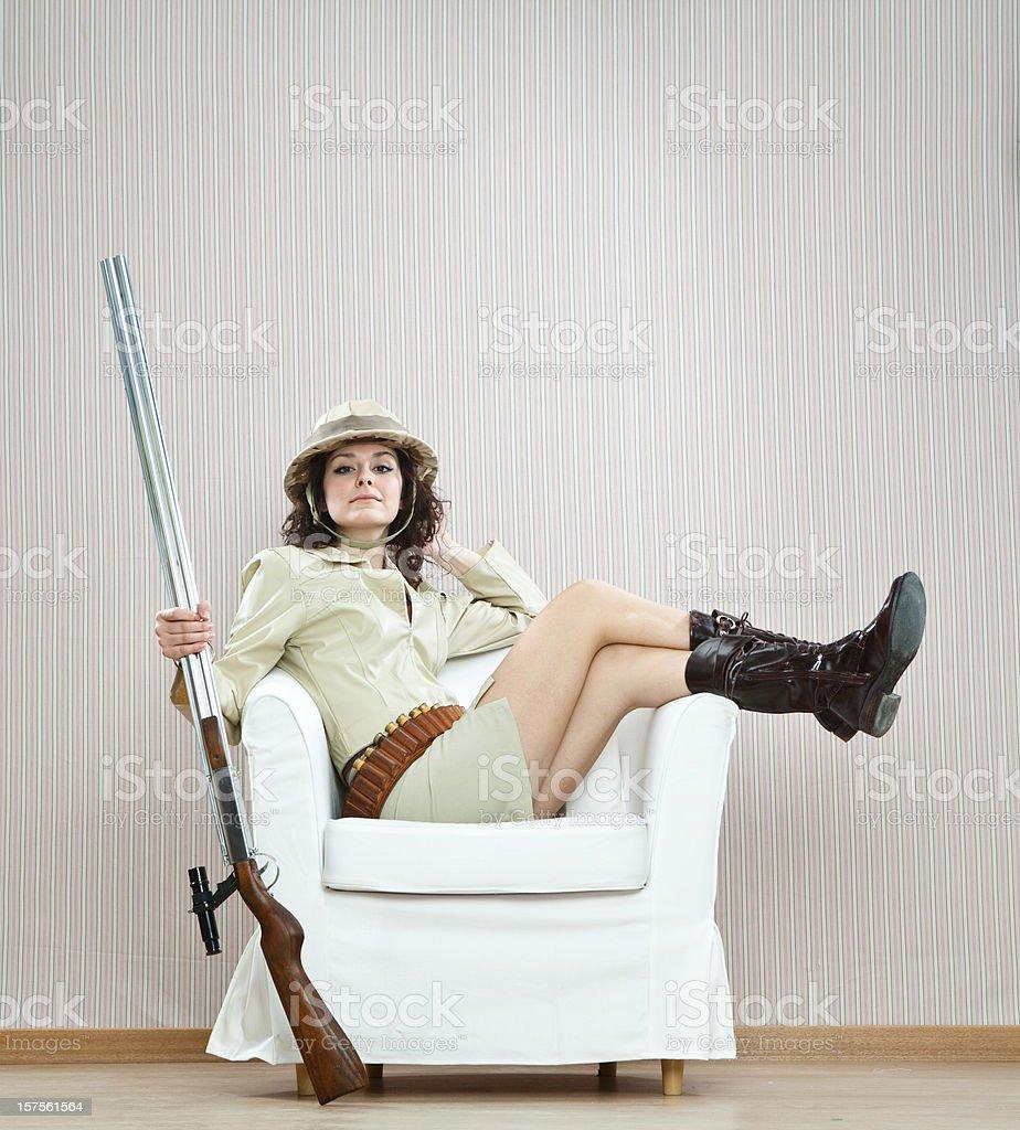 sexy hunter royalty-free stock photo
