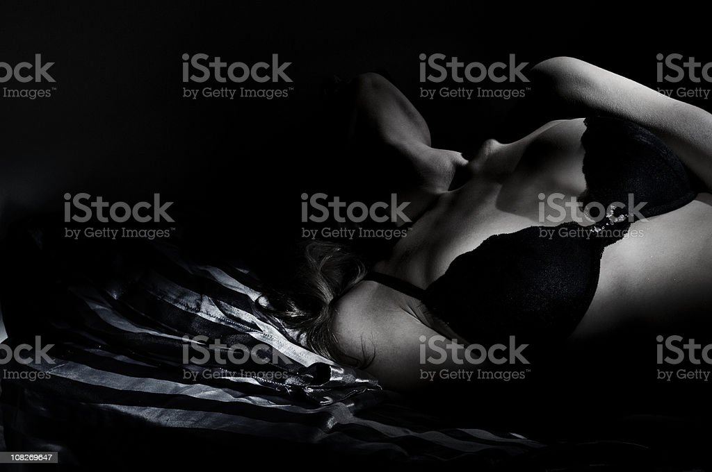 sexy in bed stock photo