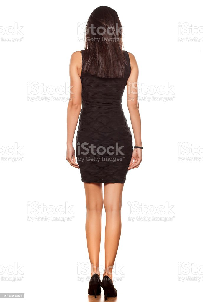 sexy in her dress stock photo