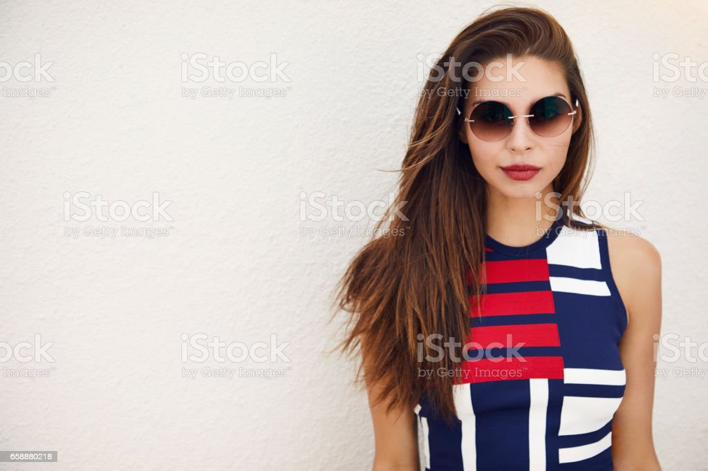 Sexy in shades stock photo