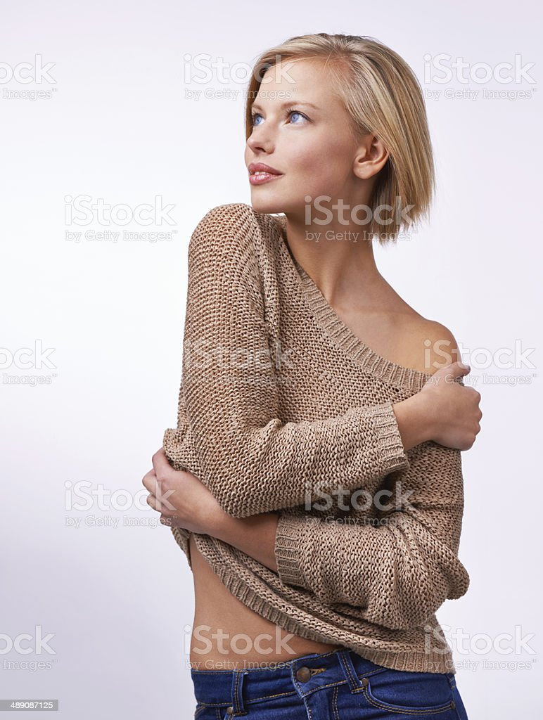 Sexy in simple style stock photo