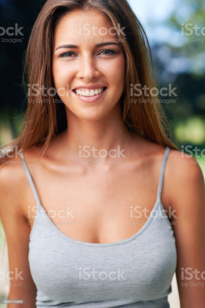 Sexy in the summer sun stock photo