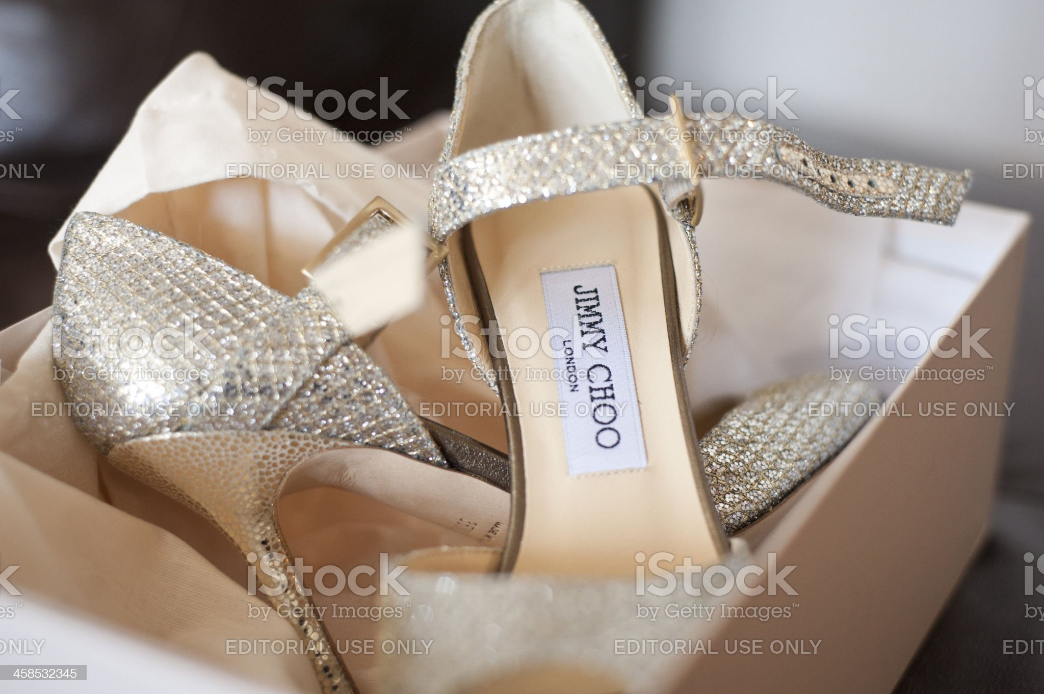 Sexy Jimmy Choo Shoes royalty-free stock photo