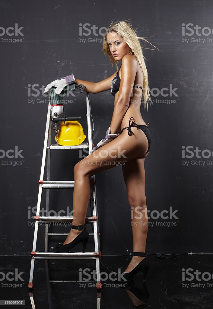 sexy laborer royalty-free stock photo