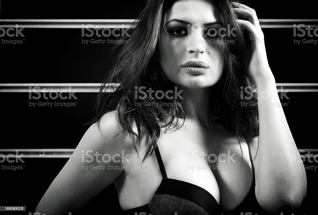 Sexy latin woman with bra stock photo