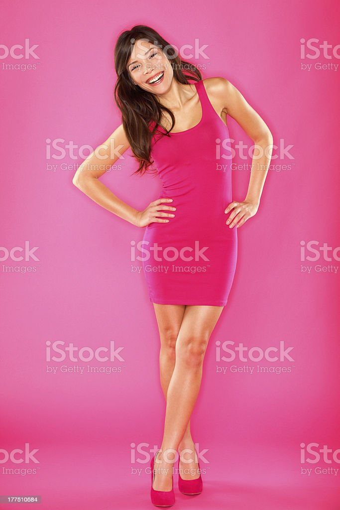 Sexy laughing confident woman royalty-free stock photo