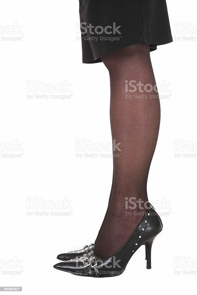 Sexy legs of a businesswoman royalty-free stock photo