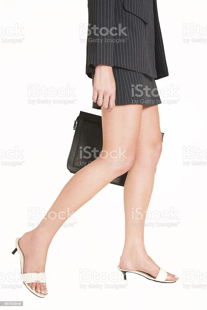 Sexy Legs on a businesswoman royalty-free stock photo