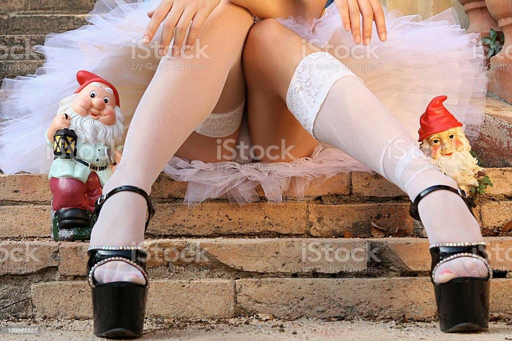 sexy legs - Snow White stock photo