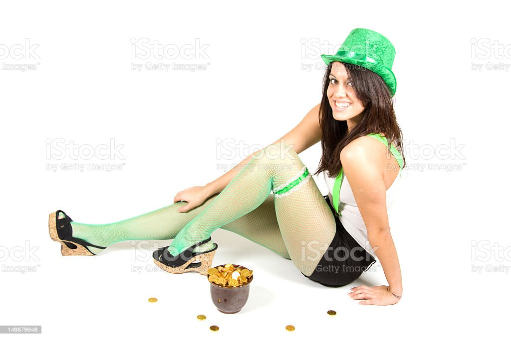 Sexy Leprechaun royalty-free stock photo