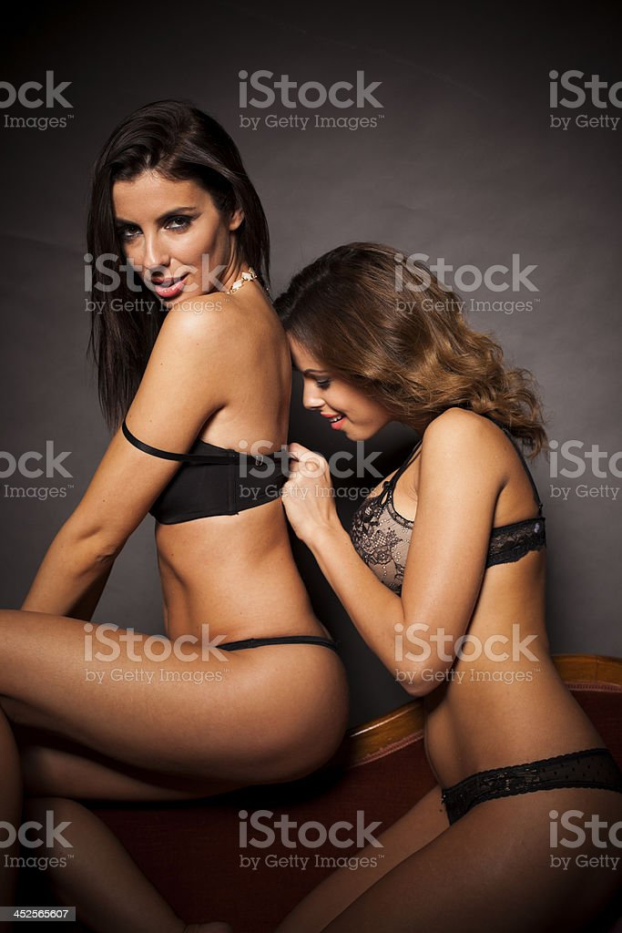 lesbian undressing each other
