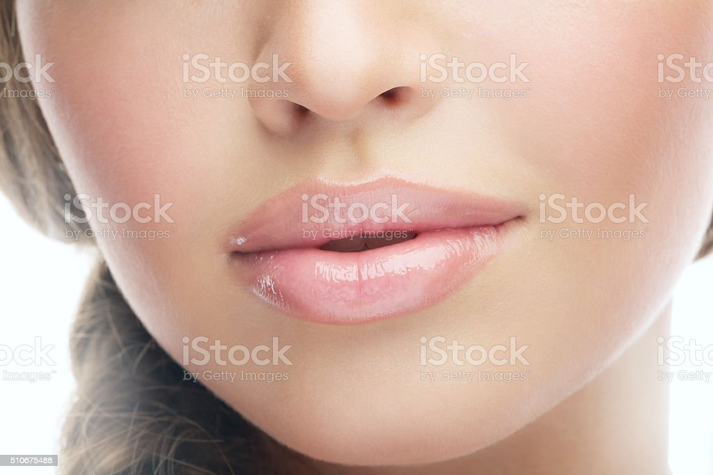 sexy lips stock photo