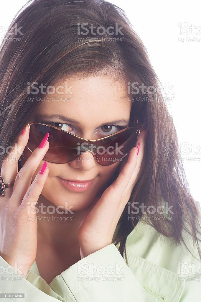 sexy look with sunglasses royalty-free stock photo