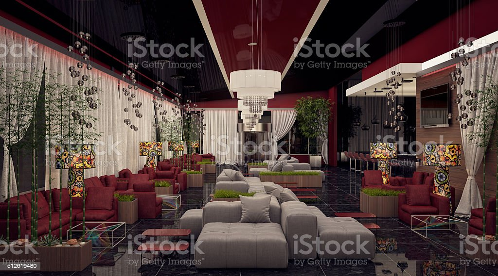 Sexy Lounge Bar stock photo