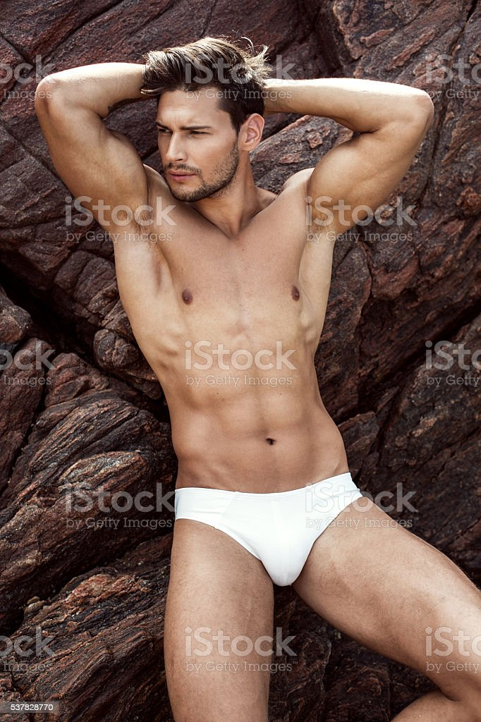 Sexy Male Model In Underwear stock photo