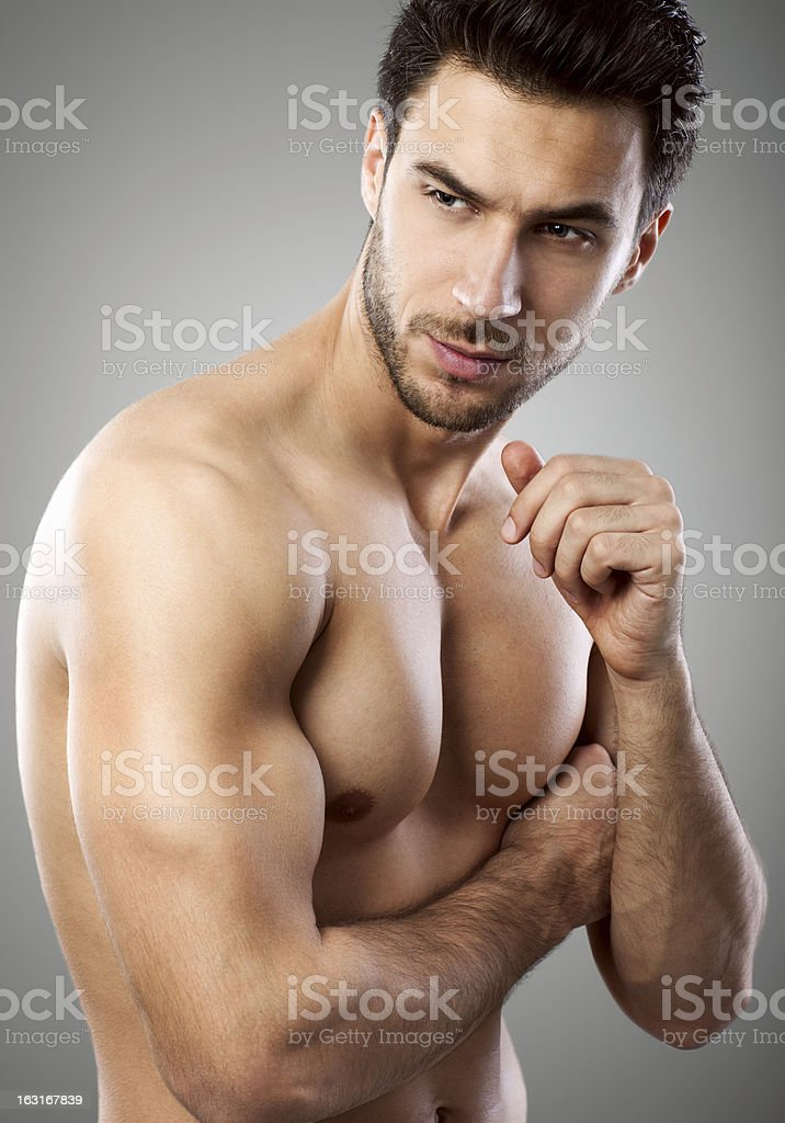 Sexy male model royalty-free stock photo