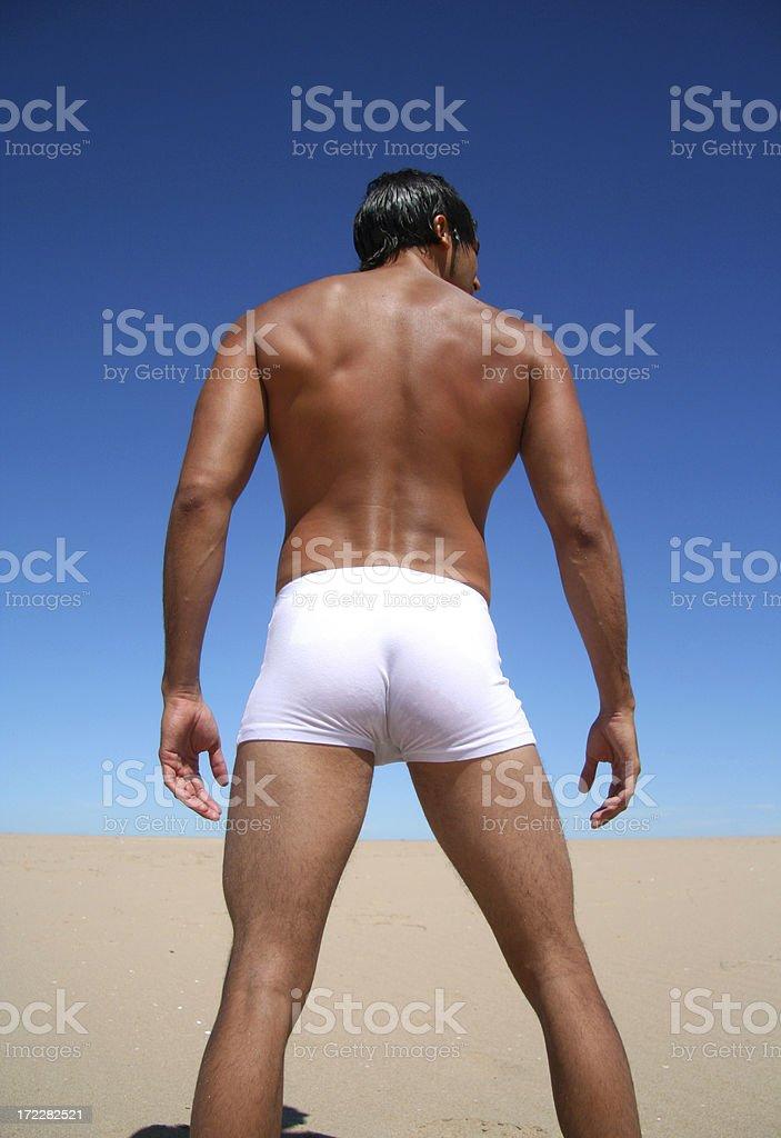 Sexy Man Back royalty-free stock photo