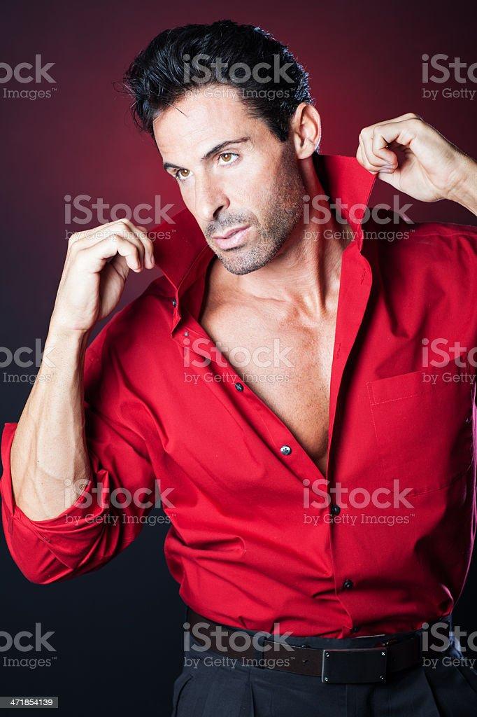 Sexy man portrait stock photo