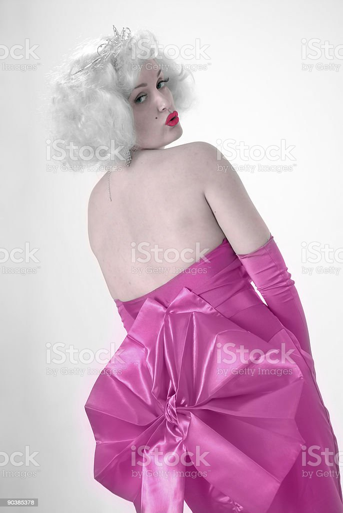 Sexy Marilyn impersonator stock photo