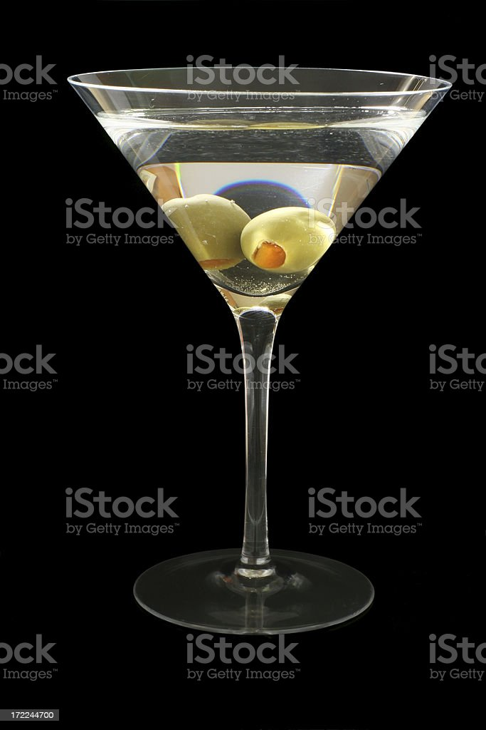 Sexy Martini, Isolated on Black royalty-free stock photo