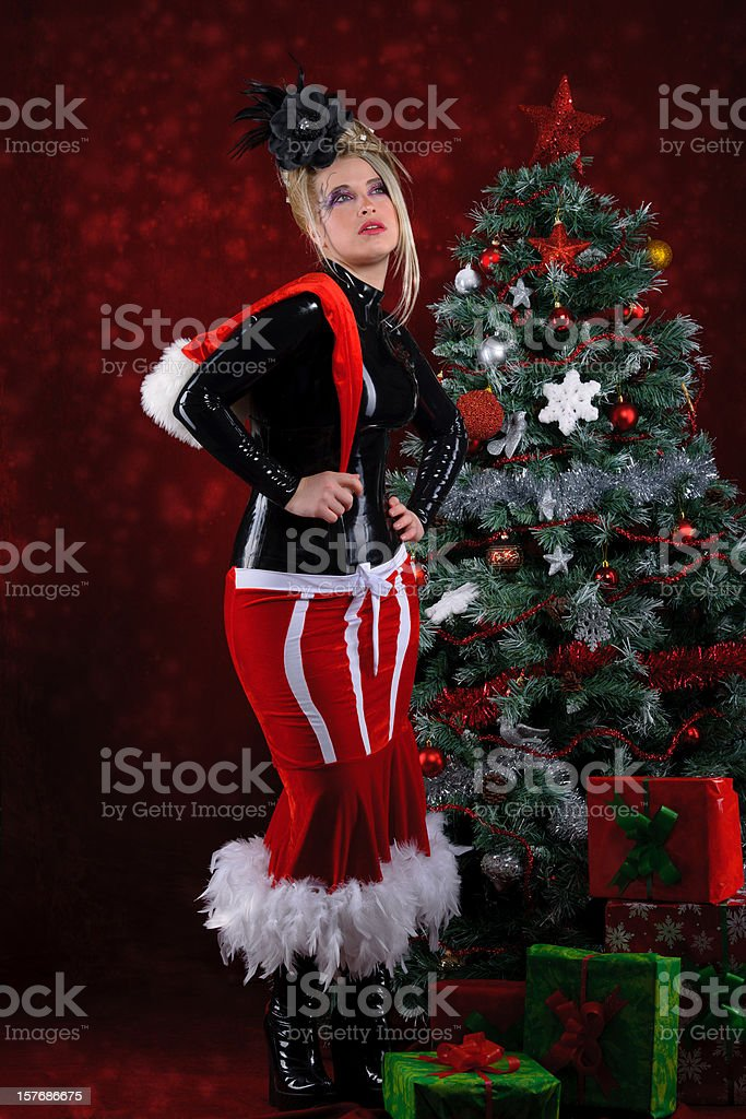 sexy merry christmas stock photo
