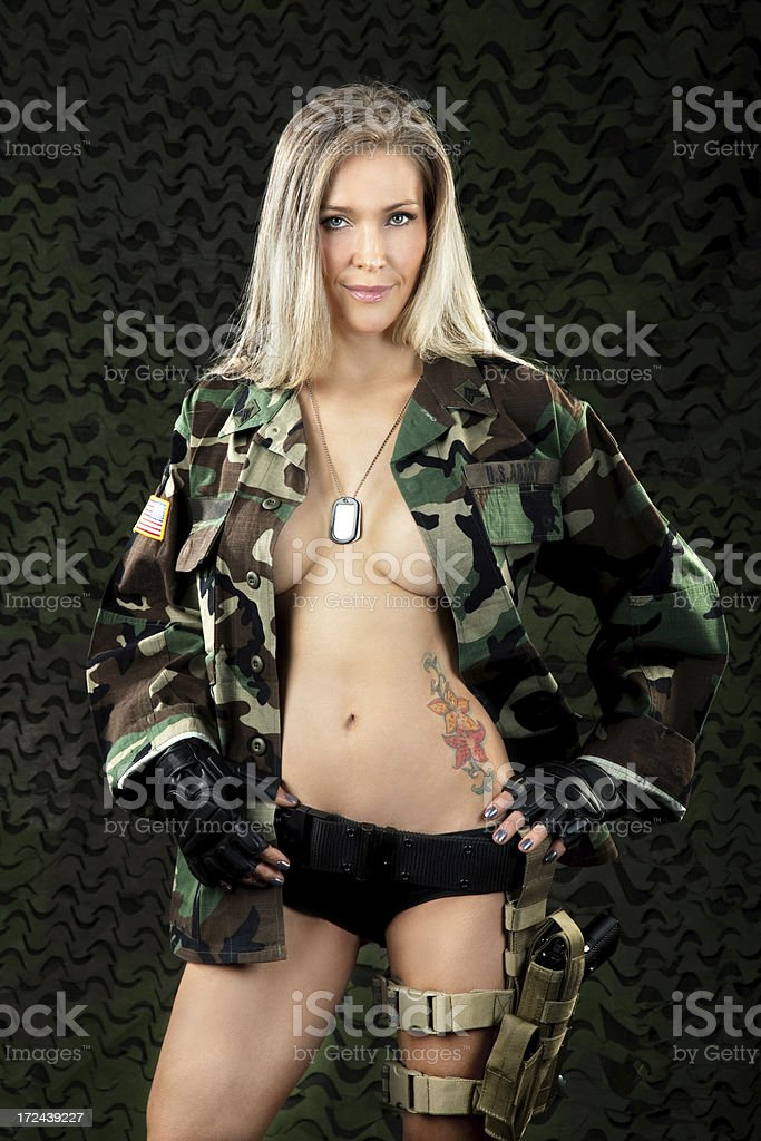 Sexy Military Woman royalty-free stock photo