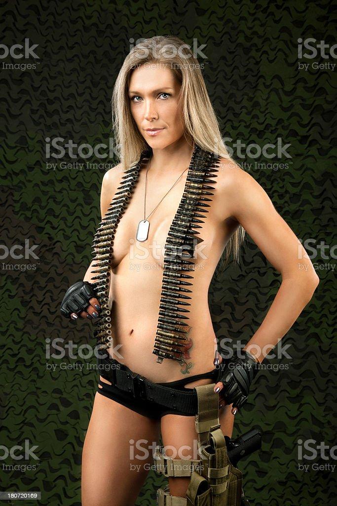 Sexy Military Woman royalty-free stock photo