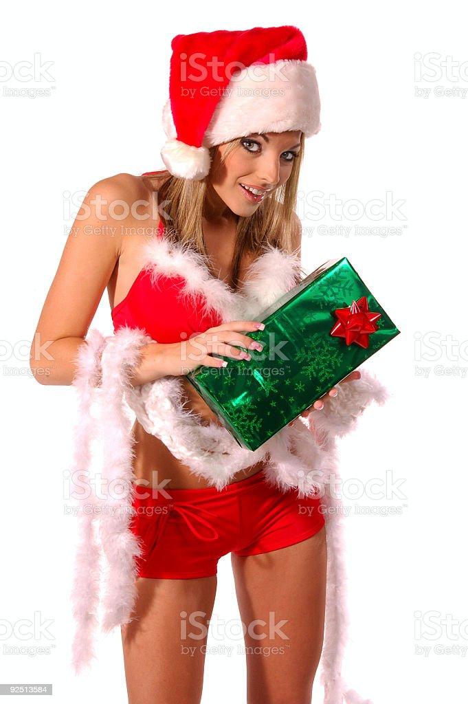 Sexy Mrs Santa Claus royalty-free stock photo