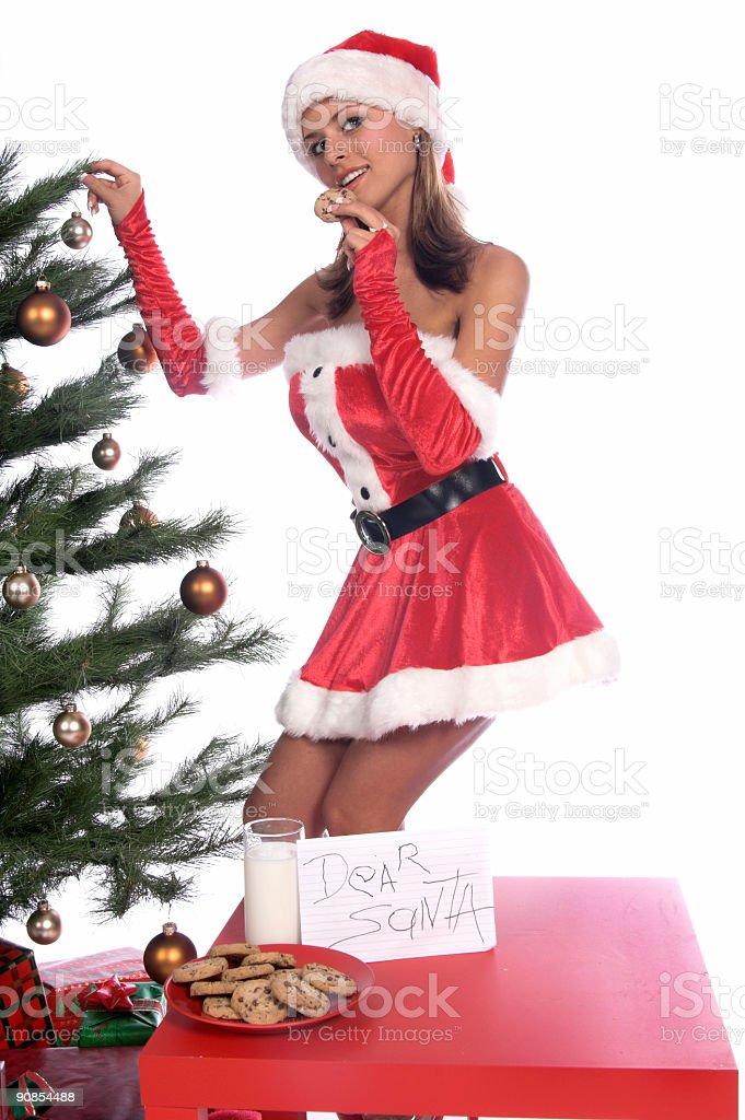 Sexy Ms. Santa royalty-free stock photo