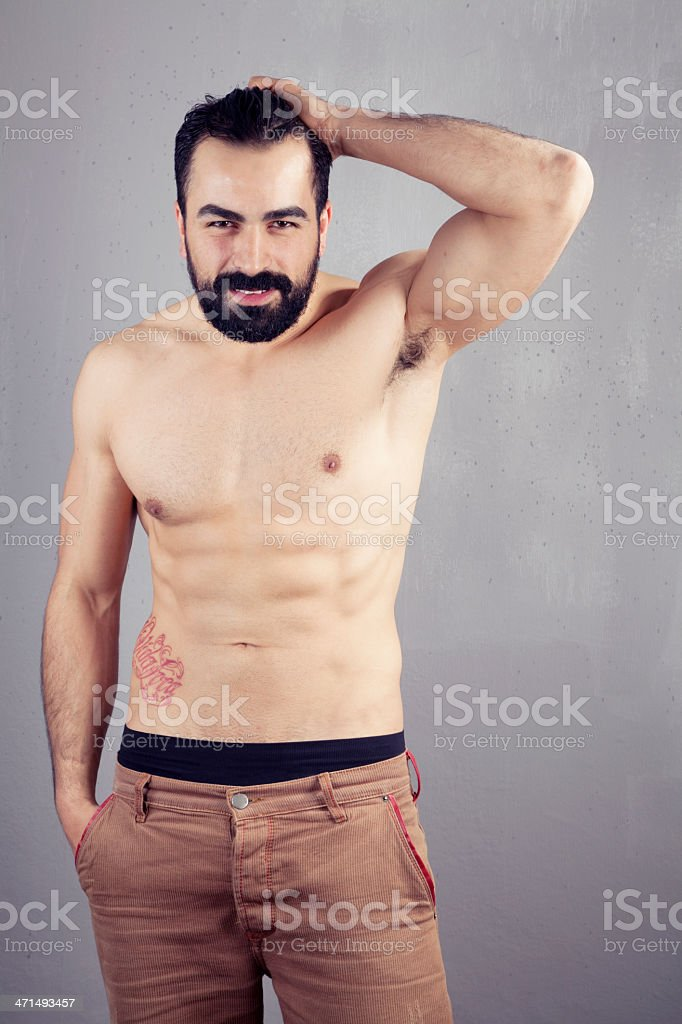 Sexy naked muscular man. royalty-free stock photo