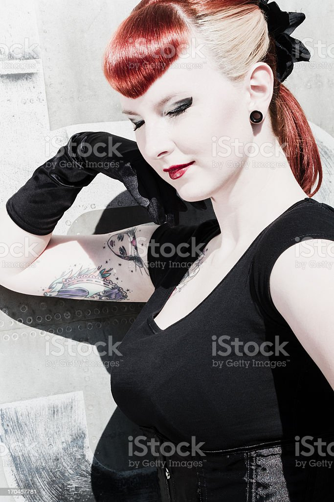 Sexy pin up girl stock photo