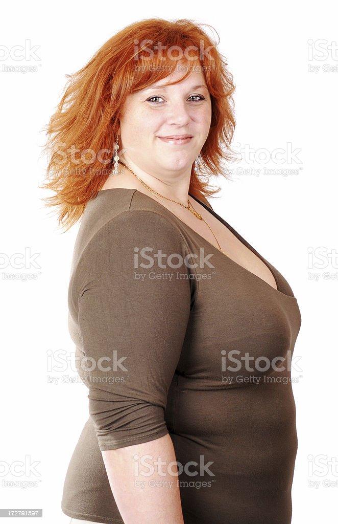 Sexy Plus-sized Redhead stock photo