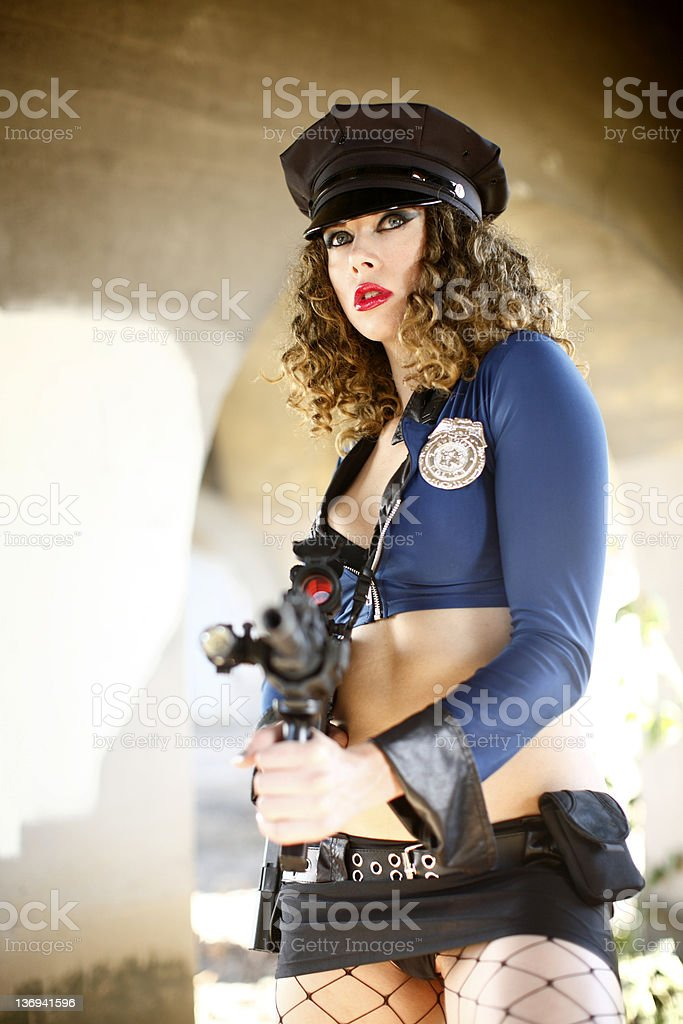Sexy police woman royalty-free stock photo