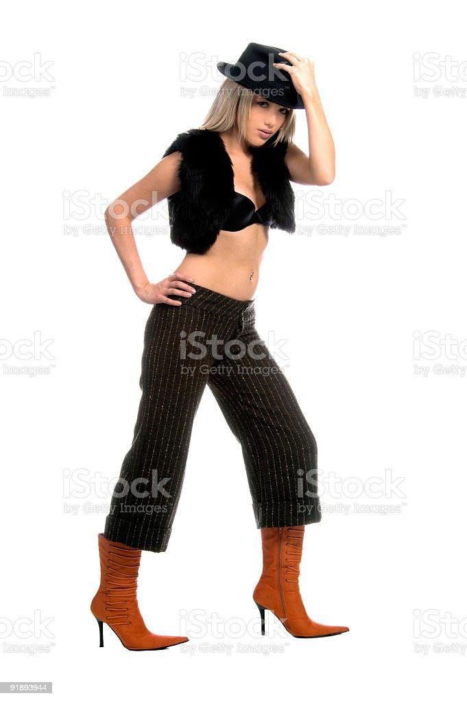 Sexy Pop Star royalty-free stock photo