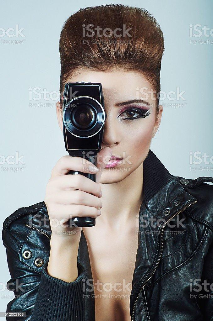 Sexy producer stock photo