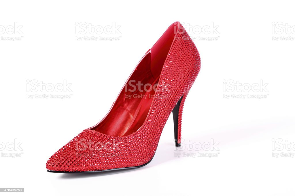 sexy red high heel shoes royalty-free stock photo