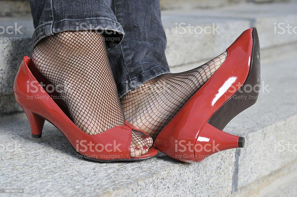 Sexy red stilettos royalty-free stock photo