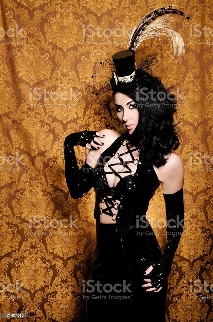Sexy Retro Cabaret - Beautiful Glamorous Femme Fatale stock photo