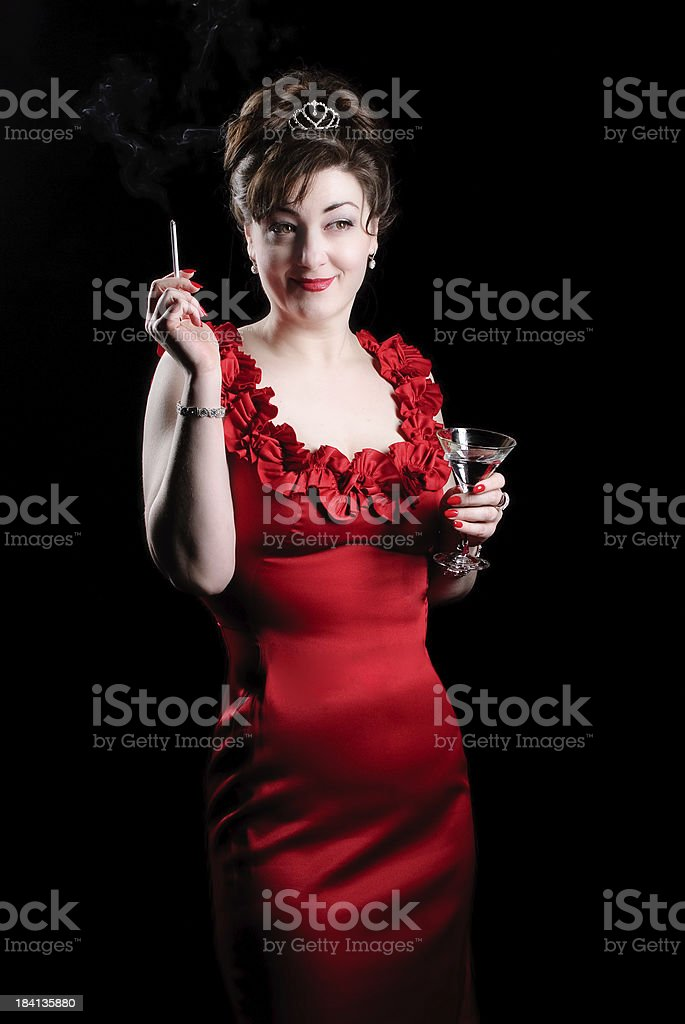 Sexy Retro Woman - Smoking royalty-free stock photo