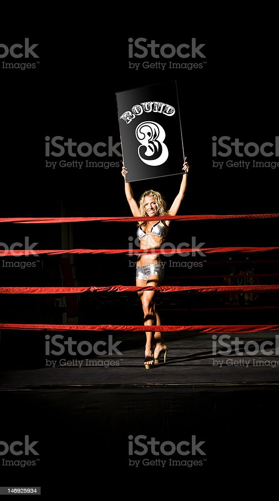 Sexy Ringside Girl royalty-free stock photo