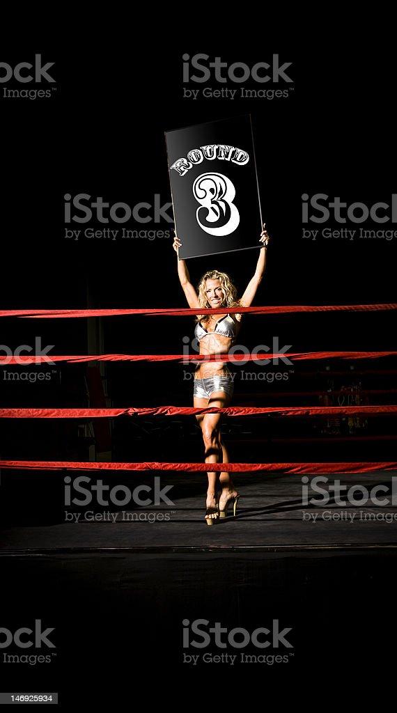 Sexy Ringside Girl stock photo