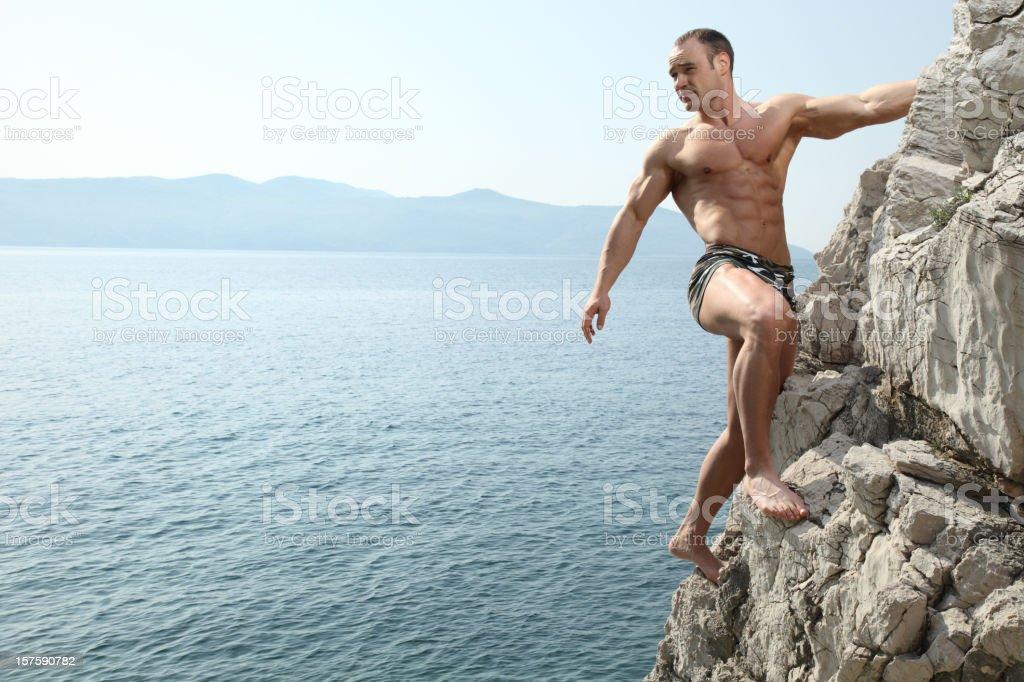 Sexy Rock Climber royalty-free stock photo
