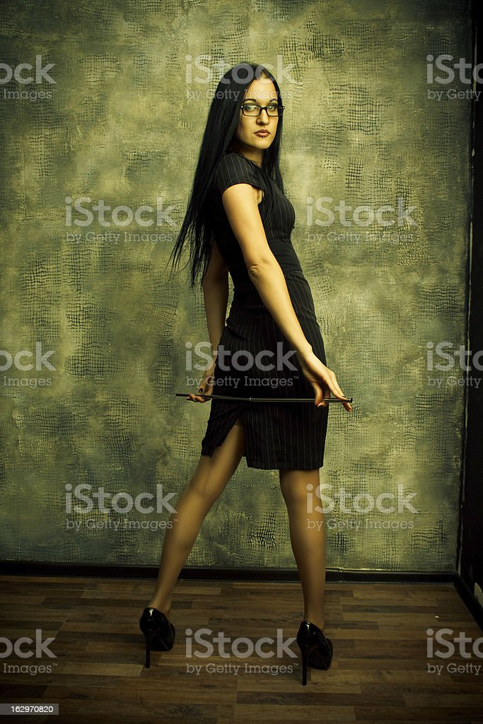 Sexy schoolteacher royalty-free stock photo