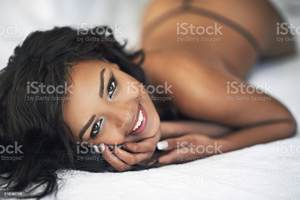 Sexy seduction stock photo