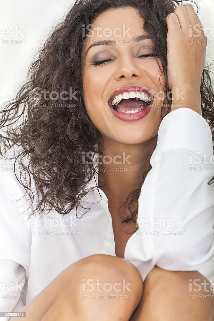 Sexy Sensual Laughing Happy Woman stock photo