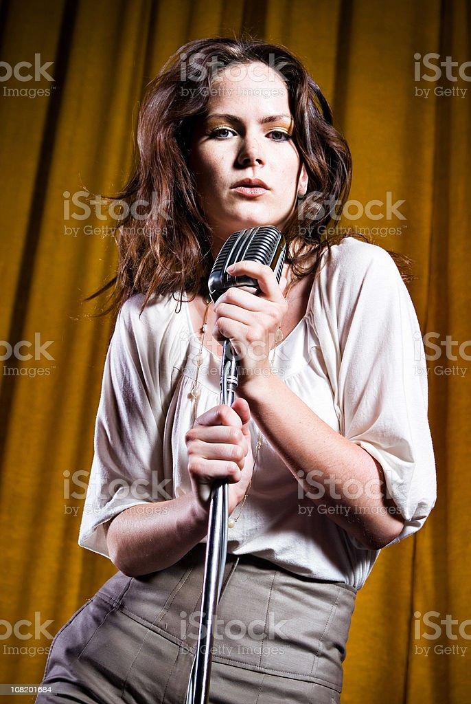 Sexy Singer stock photo