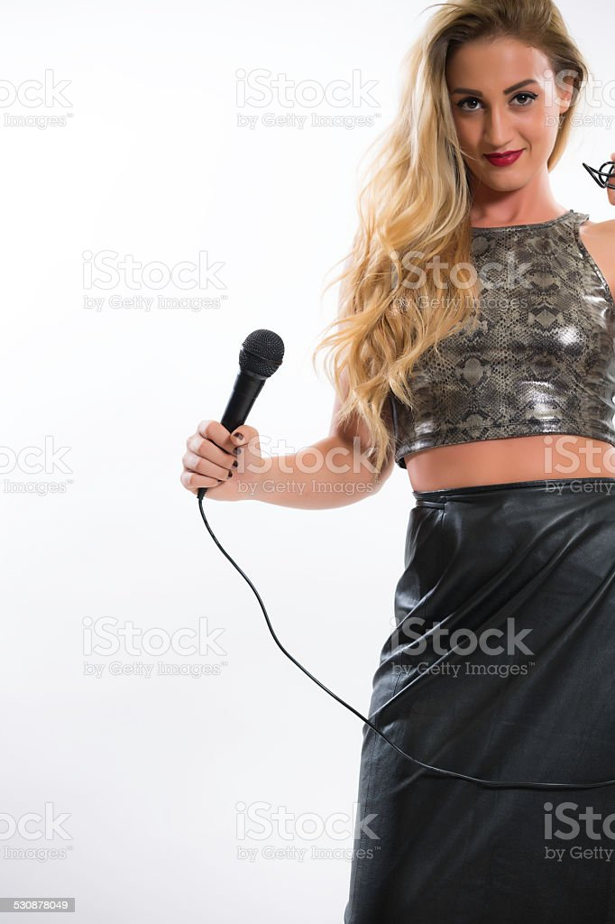 sexy singer stock photo