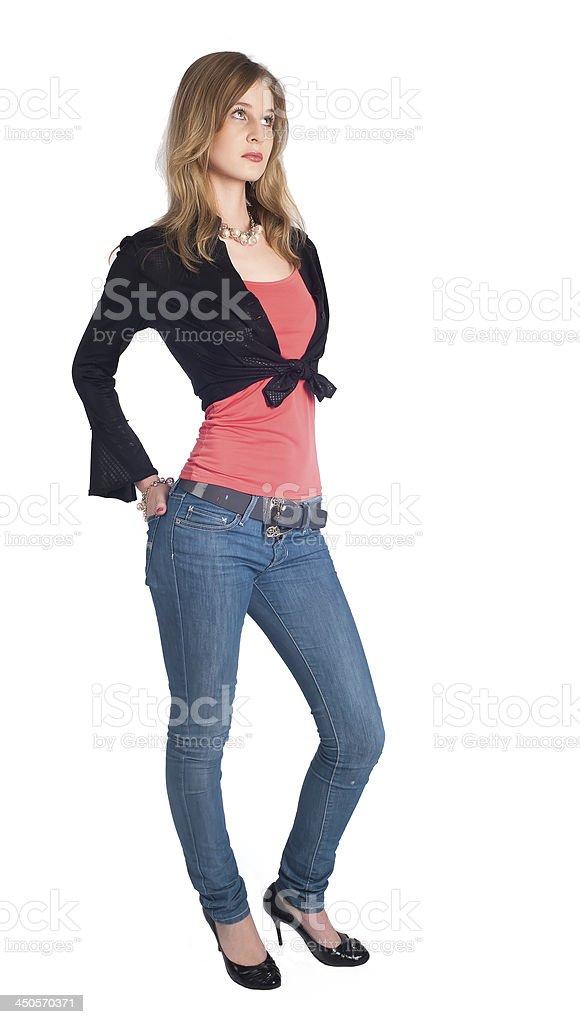 Sexy slim woman stock photo